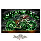Skeleton Cycle Full Size Biker Flag. FGA1062.  zászló