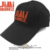 Jimi Hendrix - Unisex Baseball Cap.  Orange Stencil Logo.   baseball sapka