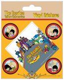 THE BEATLES (YELLOW SUBMARINE). Vinyl stickers. matrica szett