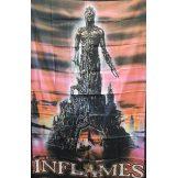 IN FLAMES - LOGO.  nagyméretű zenekaros zászló