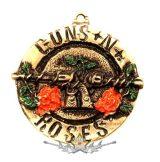GUNS N ROSES - CIRCLE LOGO.  nyaklánc, medál
