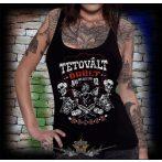 Tetovált örült, rocker.  női trikó, top
