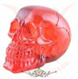 Clear Skull red -  Áttetsző koponya vörös.  koponya figura
