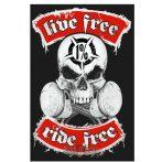 LIVE FREE - RIDE FREE. 1 %.  felvarró
