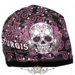 Butterfly Sugar Skull Beanie - Official Sturgis Motorcycle Rally. Hot Leathers Sublimated.  USA.  kötött sapka