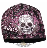Butterfly Sugar Skull Beanie - Official Sturgis Motorcycle Rally. Hot Leathers Sublimated.  USA.  kötött sapka