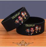 COLDPLAY - LOGO -  Rubber Wristband.   szilikon karkötő