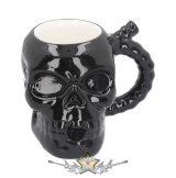 Skull Muggery Pipe Mug.  16cm.