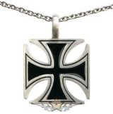 IRON CROSS - VASKERESZT - Cross Pendant Necklace. stainless steel BP8-011    nyaklánc, medál
