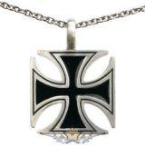 IRON CROSS - VASKERESZT - Cross Pendant Necklace. stainless steel BP8-011    nyaklánc, medál