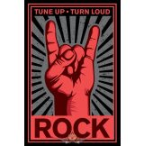 Tune Up Turn Loud Rock.  plakát, poszter